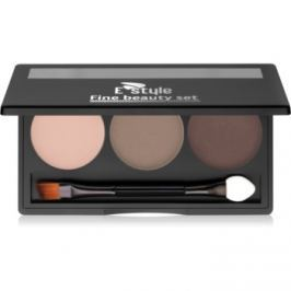 E style Fine Beauty paletka do brwi odcień 02 Medium Brown 5,7 g