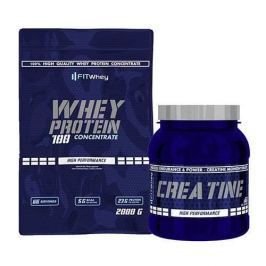 Fitwhey Whey Protein 100 Concentrate 2000 + Creatine 500 - Strawberry